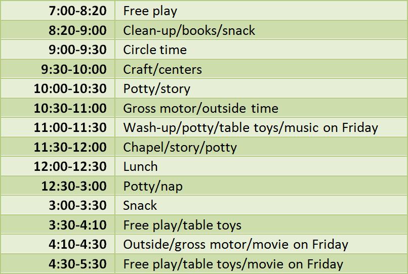 schedule_green